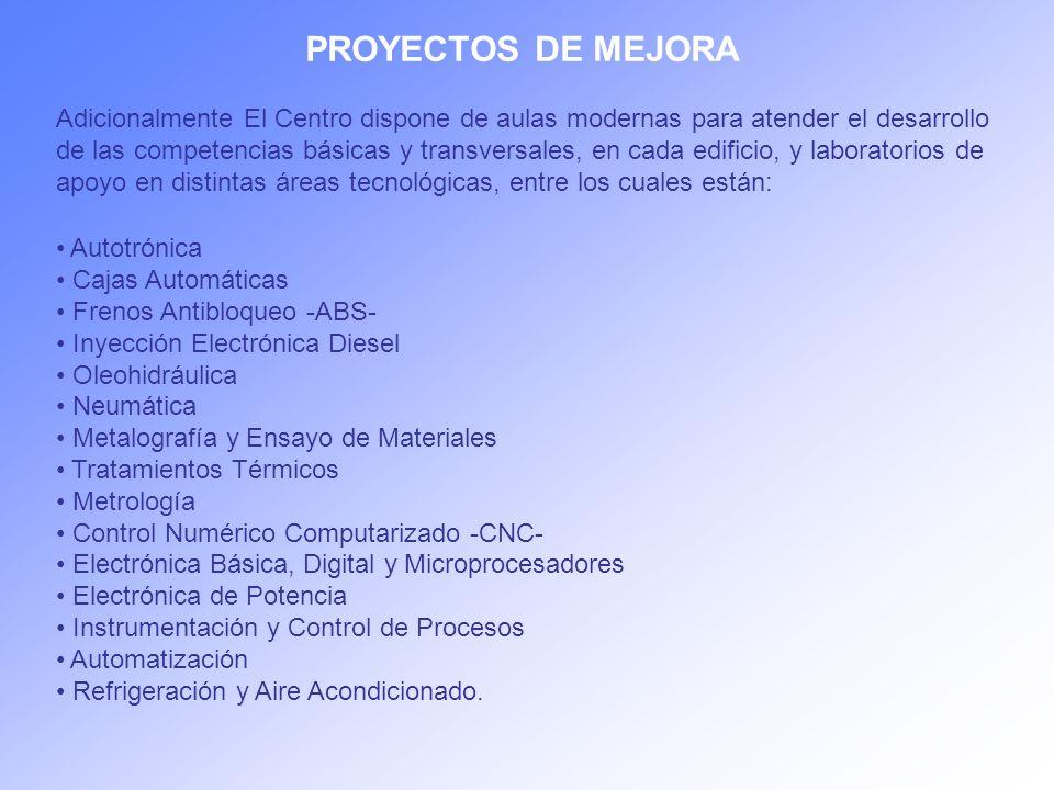 PROYECTOS DE MEJORA