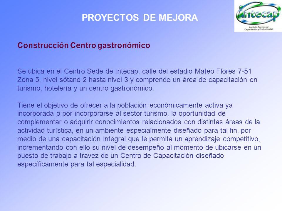 PROYECTOS DE MEJORA Construcción Centro gastronómico