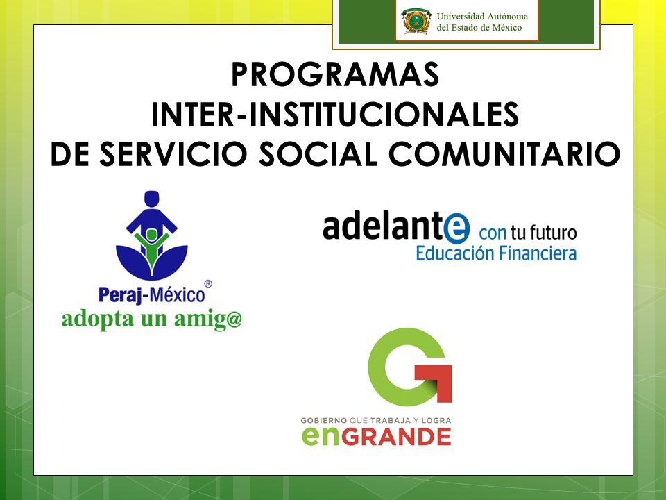 PROGRAMAS INTER-INSTITUCIONALES DE SERVICIO SOCIAL COMUNITARIO