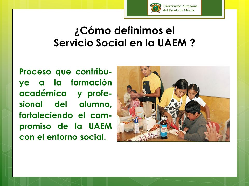 Servicio Social en la UAEM