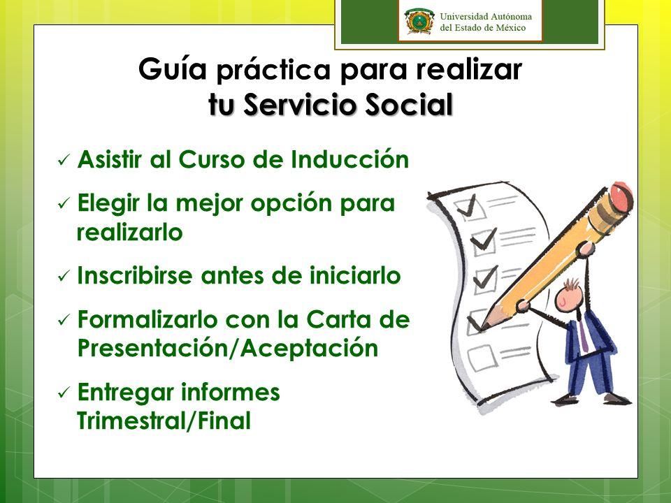 Guía práctica para realizar tu Servicio Social