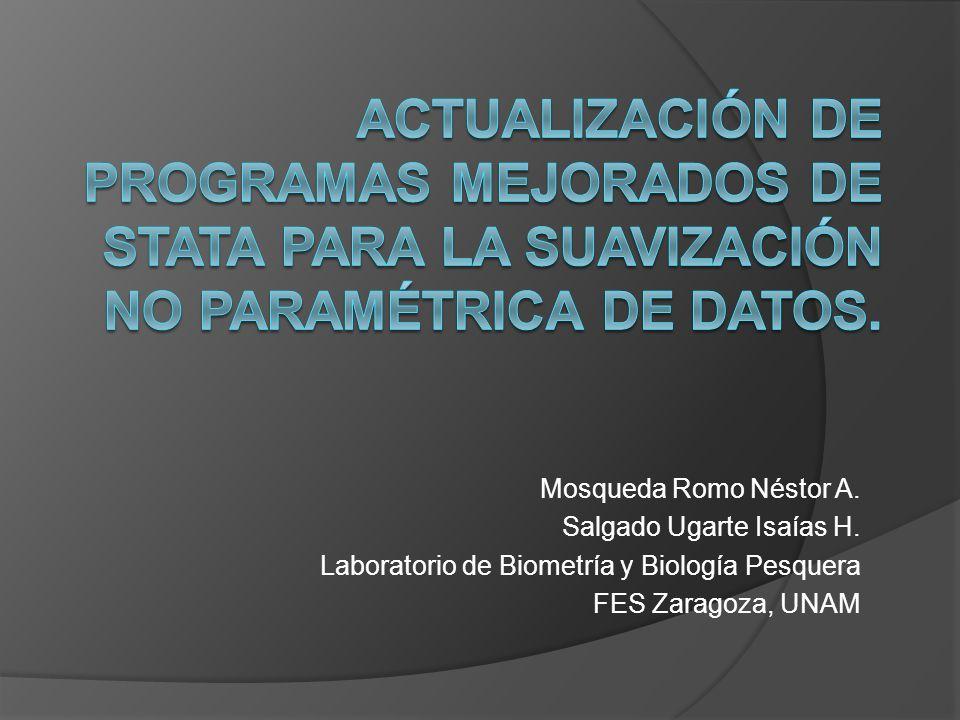 Actualización de programas mejorados de Stata para la suavización no paramétrica de datos.