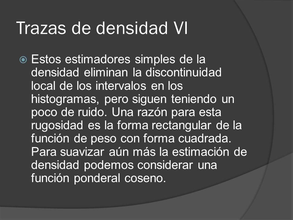 Trazas de densidad VI
