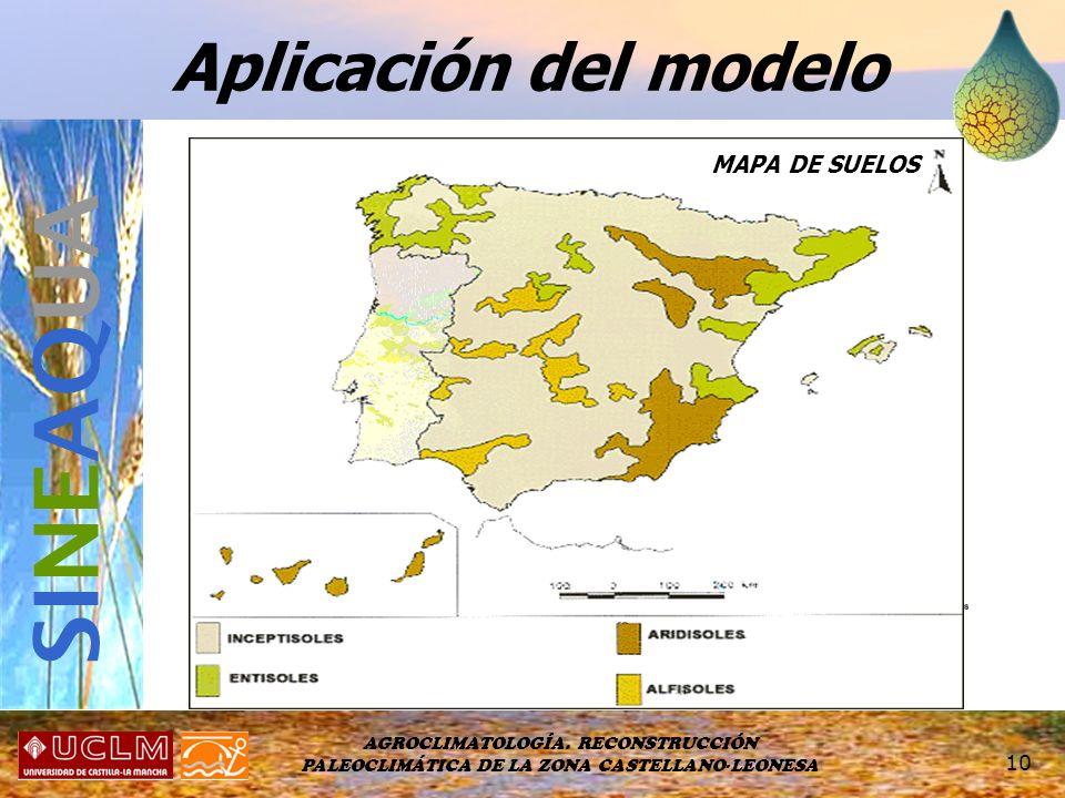 SINEAQUA Aplicación del modelo MAPA DE SUELOS MAPA CLIMÁTICO
