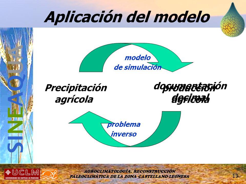 SINEAQUA Aplicación del modelo documentación Precipitación producción