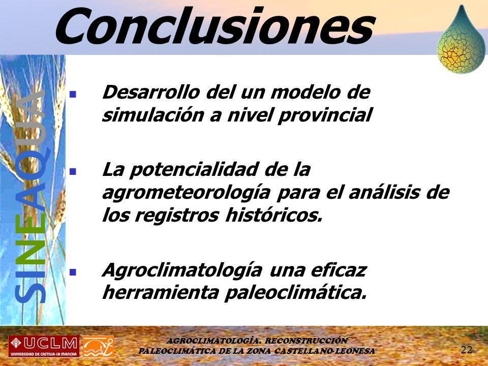 Conclusiones SINEAQUA