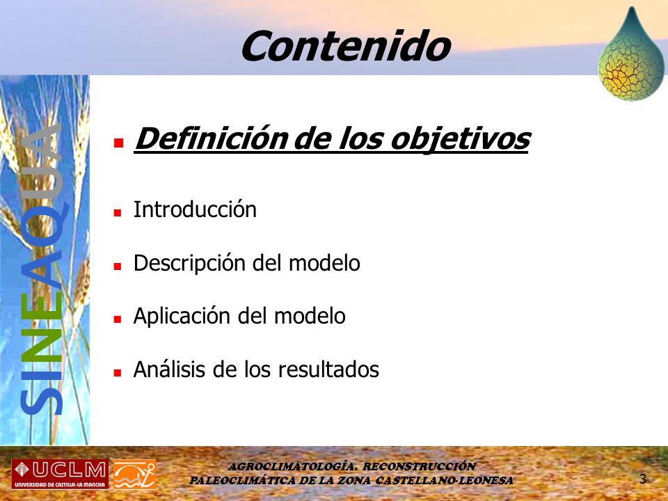 SINEAQUA Contenido Definición de los objetivos Introducción