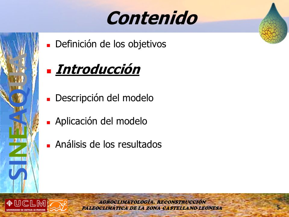 SINEAQUA Contenido Introducción Definición de los objetivos