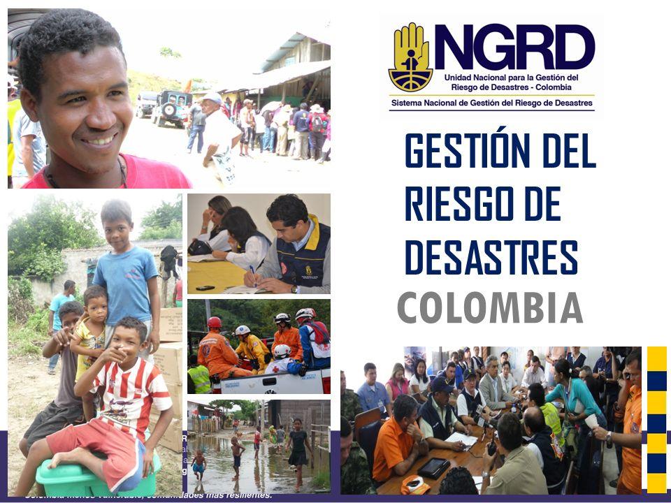 GESTIÓN DEL RIESGO DE DESASTRES COLOMBIA