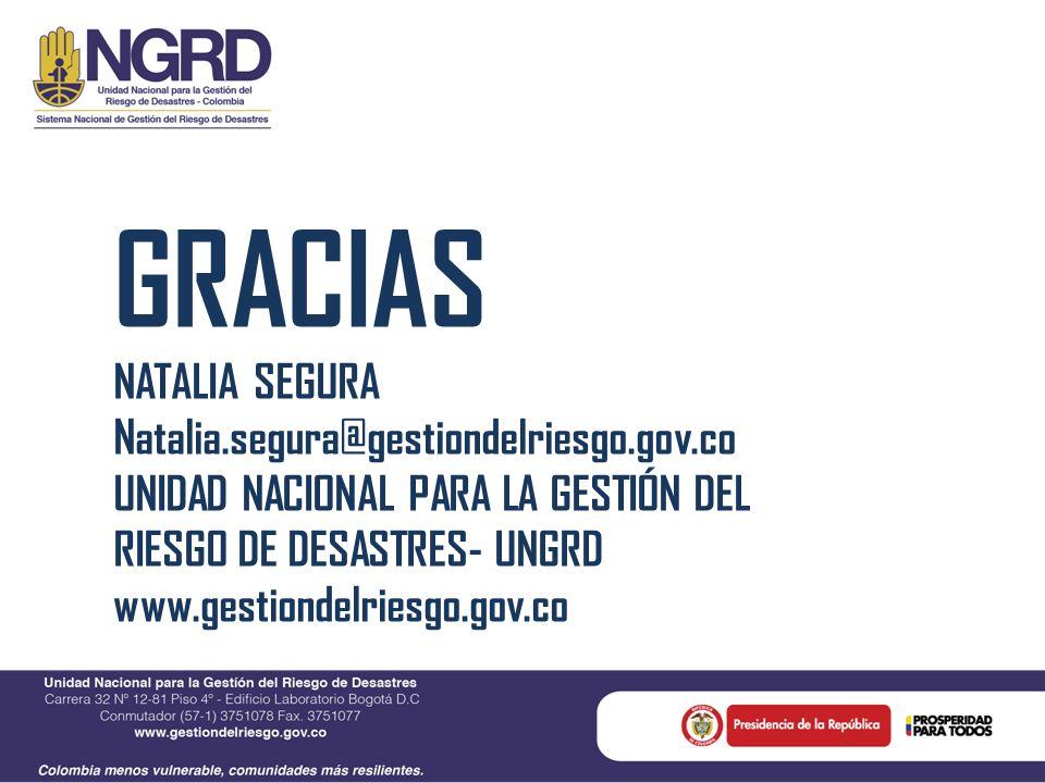 GRACIAS NATALIA SEGURA Natalia.segura@gestiondelriesgo.gov.co