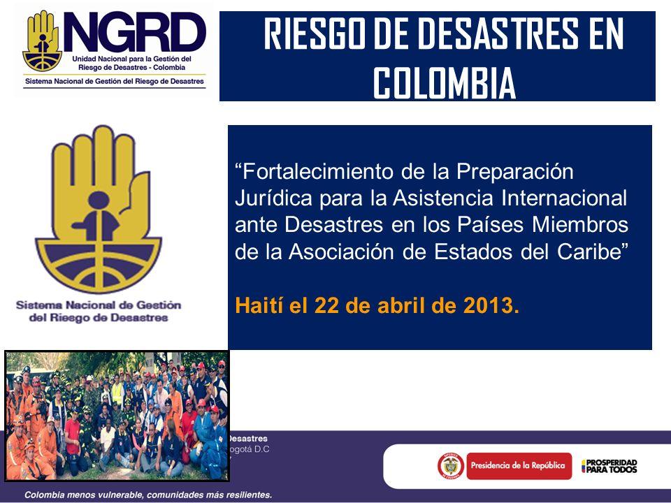RIESGO DE DESASTRES EN COLOMBIA