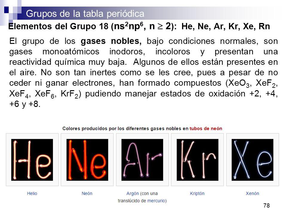 Curso de qumica i para q y tq semestre abril julio ppt descargar 78 elementos urtaz Image collections