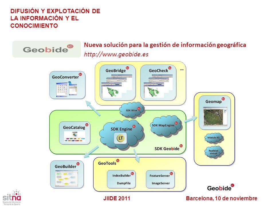 Nueva solución para la gestión de información geográfica