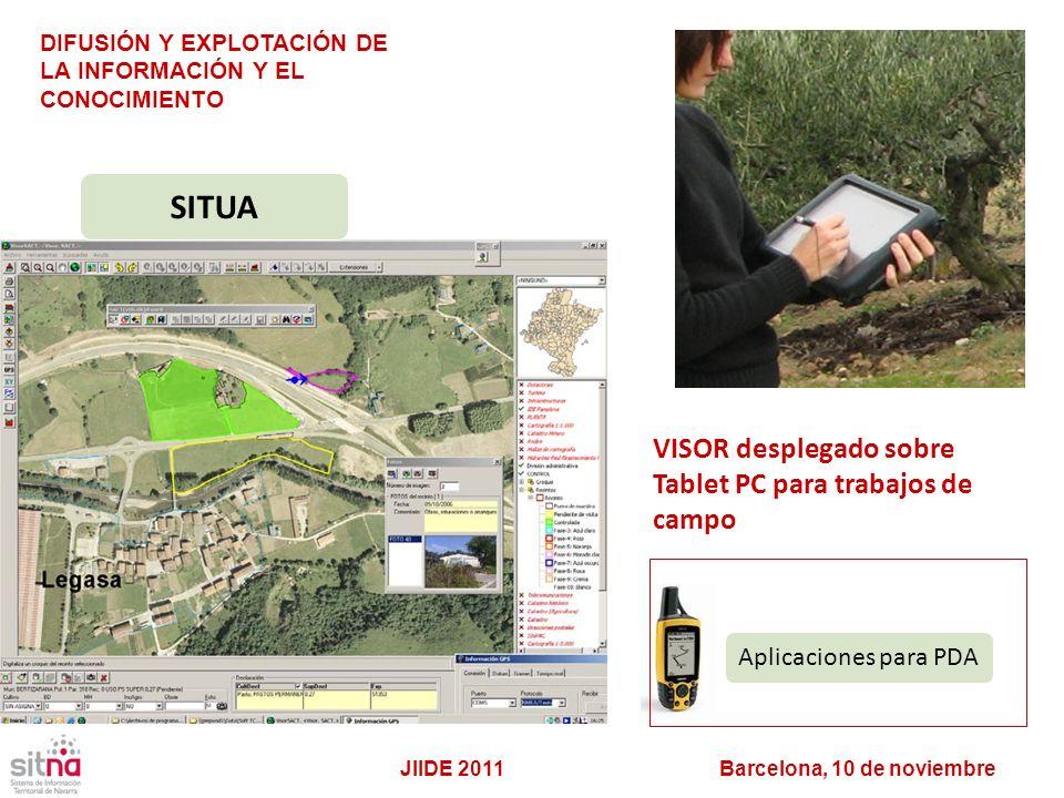 SITUA VISOR desplegado sobre Tablet PC para trabajos de campo