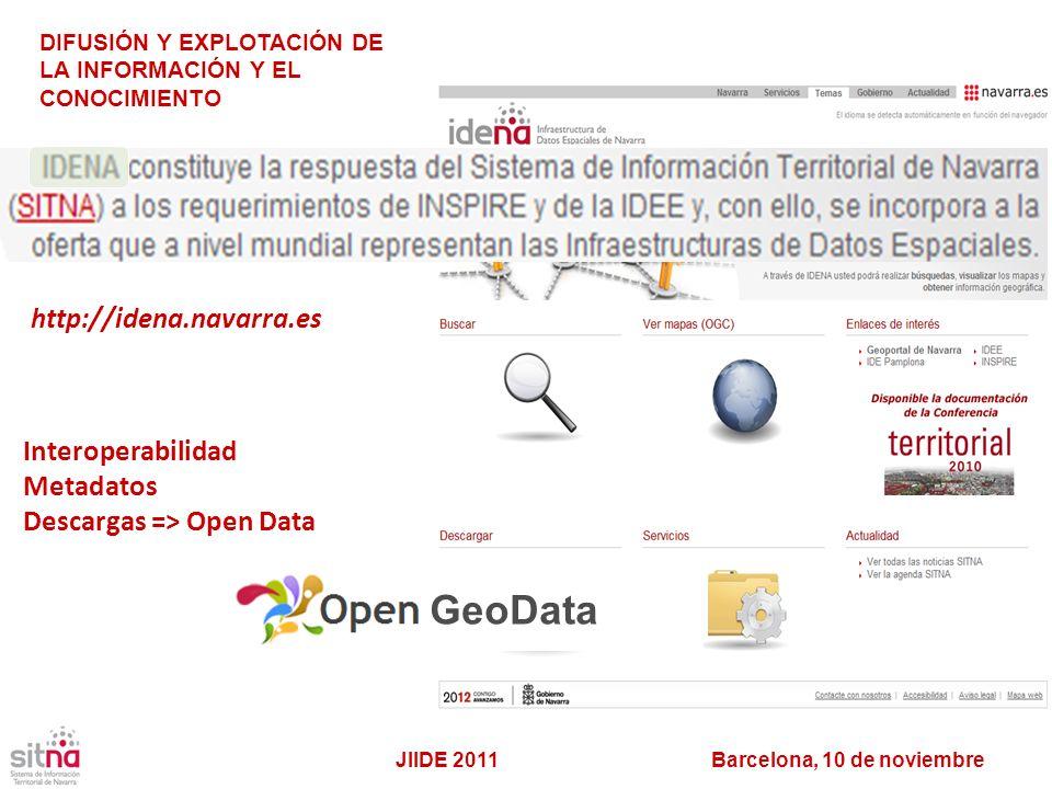 GeoData http://idena.navarra.es Interoperabilidad Metadatos