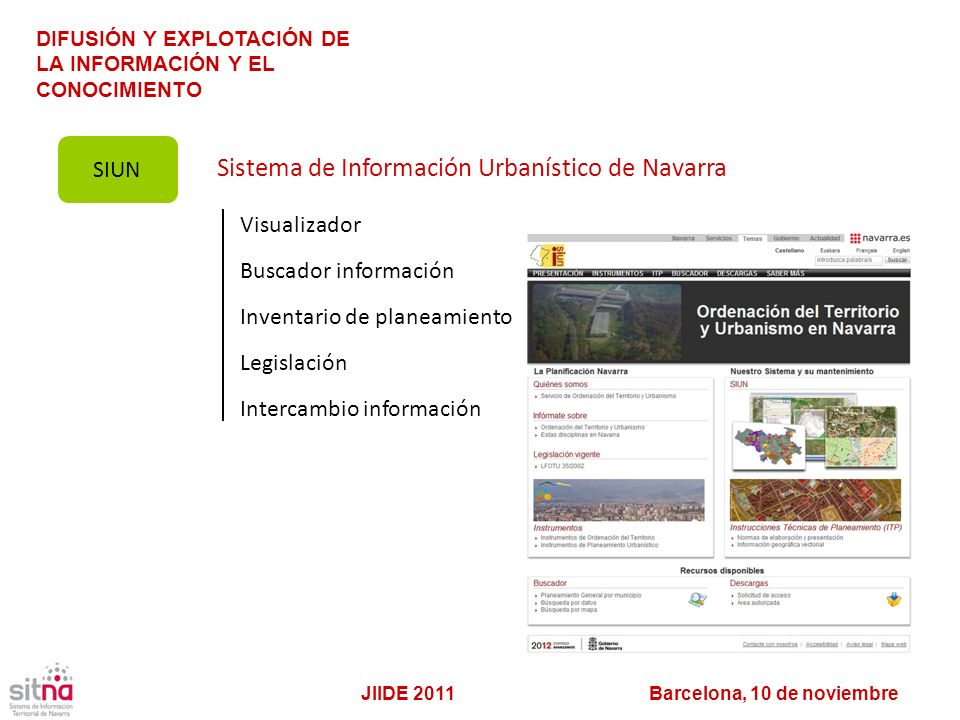 Sistema de Información Urbanístico de Navarra