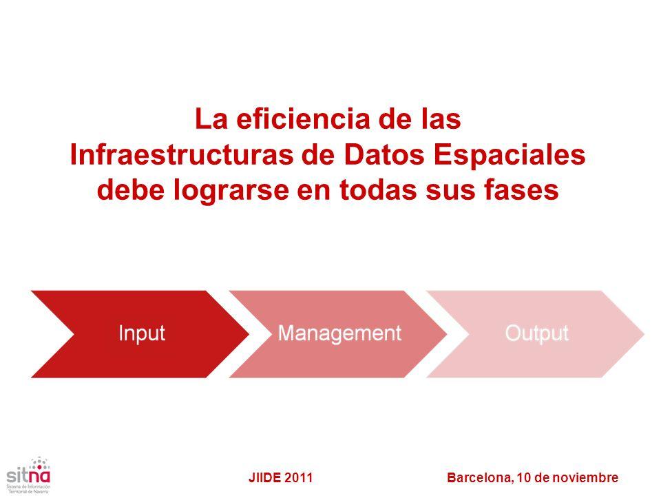 Infraestructuras de Datos Espaciales debe lograrse en todas sus fases