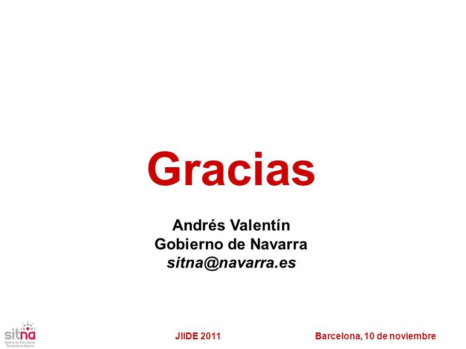 Gracias Andrés Valentín Gobierno de Navarra sitna@navarra.es