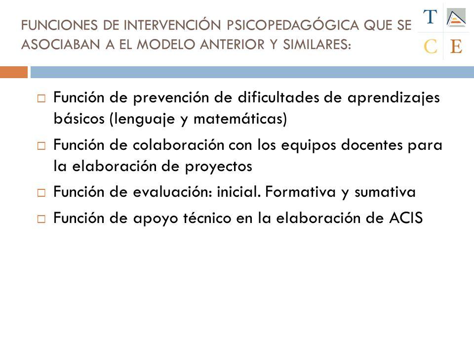 Función de evaluación: inicial. Formativa y sumativa