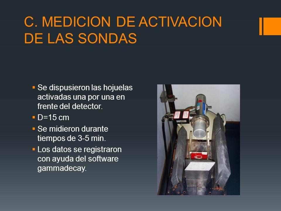 C. MEDICION DE ACTIVACION DE LAS SONDAS