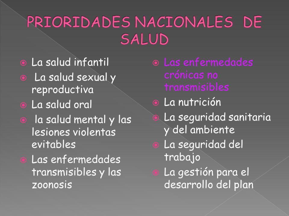 PRIORIDADES NACIONALES DE SALUD