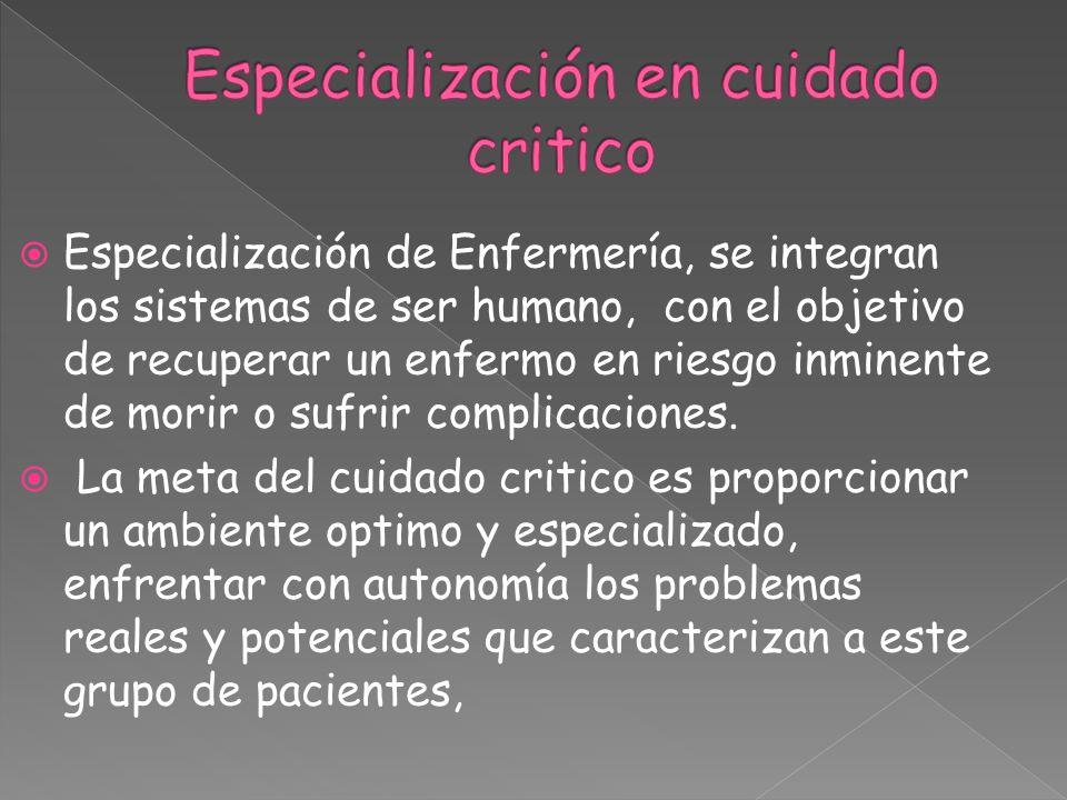 Especialización en cuidado critico