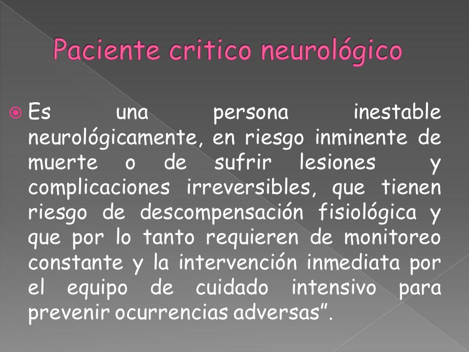 Paciente critico neurológico