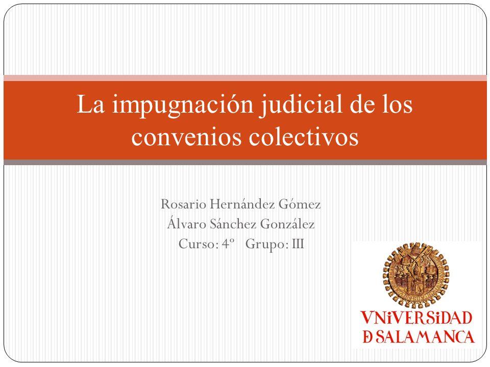 La impugnación judicial de los convenios colectivos