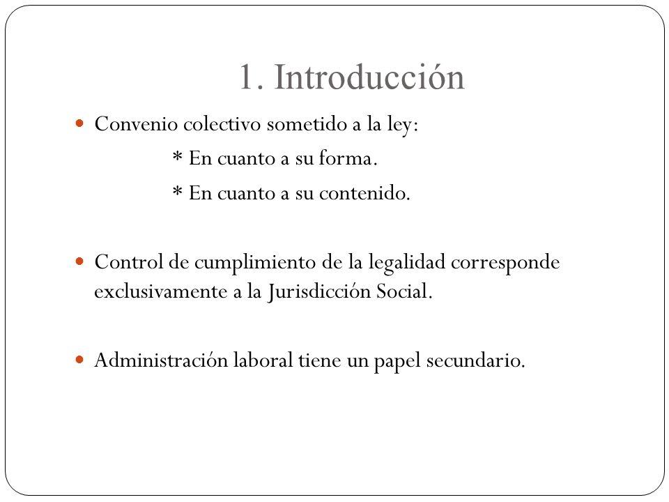 1. Introducción Convenio colectivo sometido a la ley: