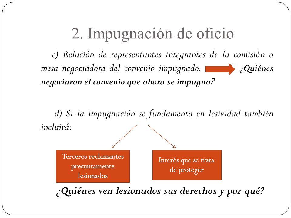 2. Impugnación de oficio