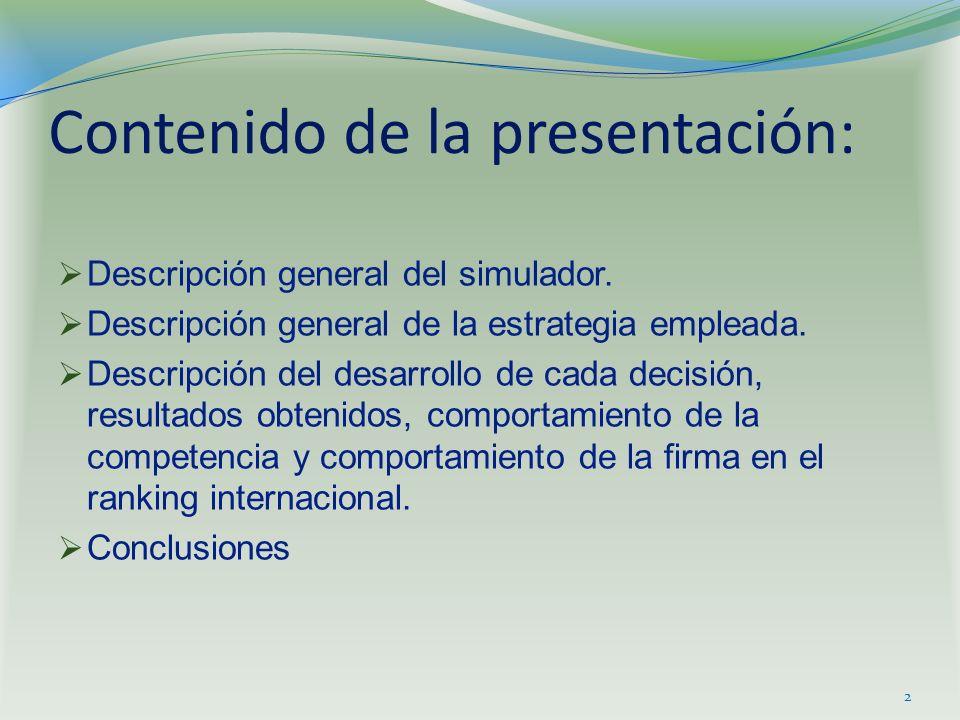 Contenido de la presentación: