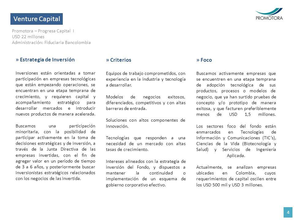 Venture Capital » Estrategia de Inversión » Criterios » Foco