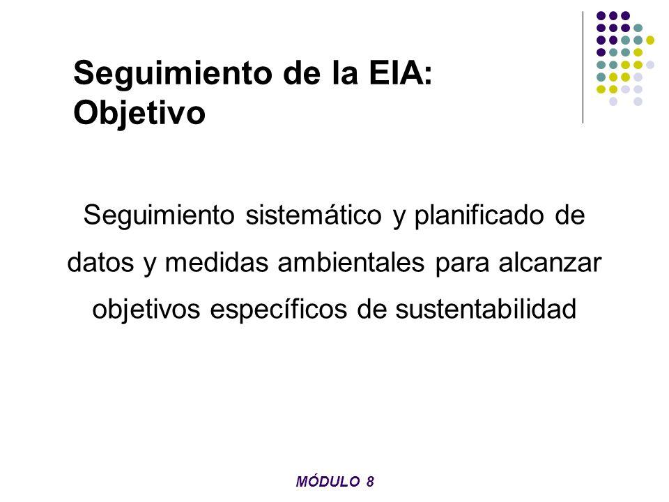 Seguimiento de la EIA: Objetivo