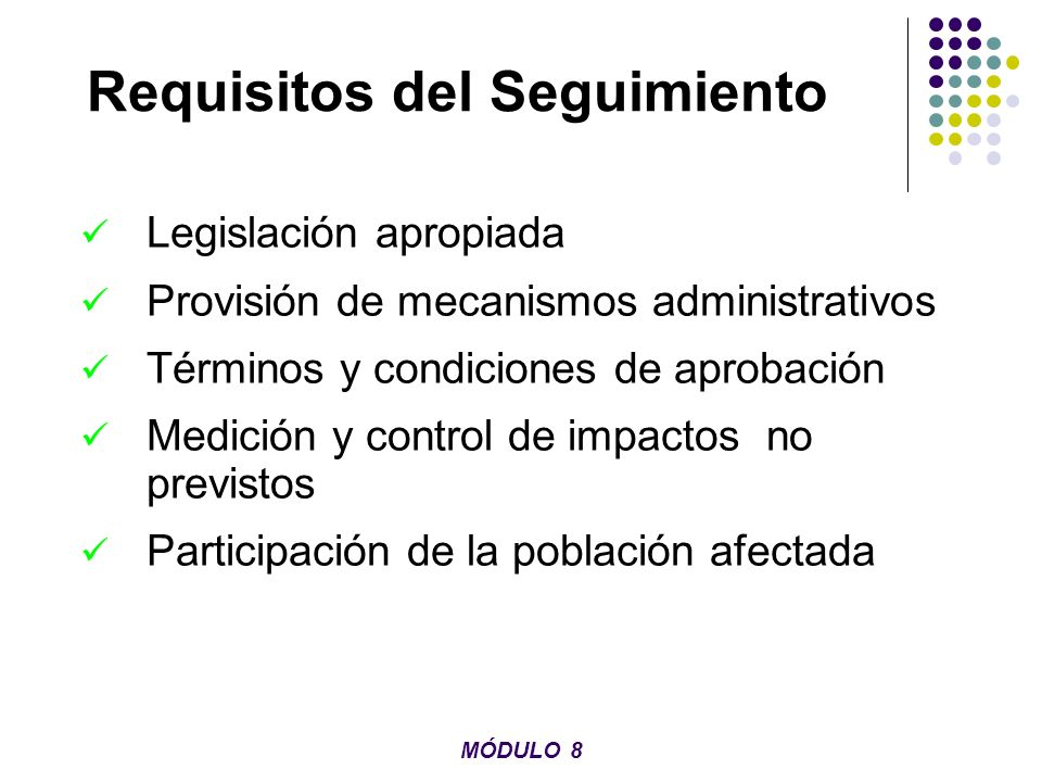 Requisitos del Seguimiento