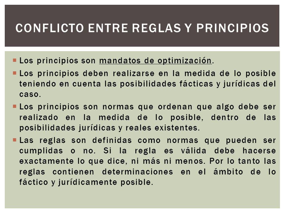 Conflicto entre reglas y principios