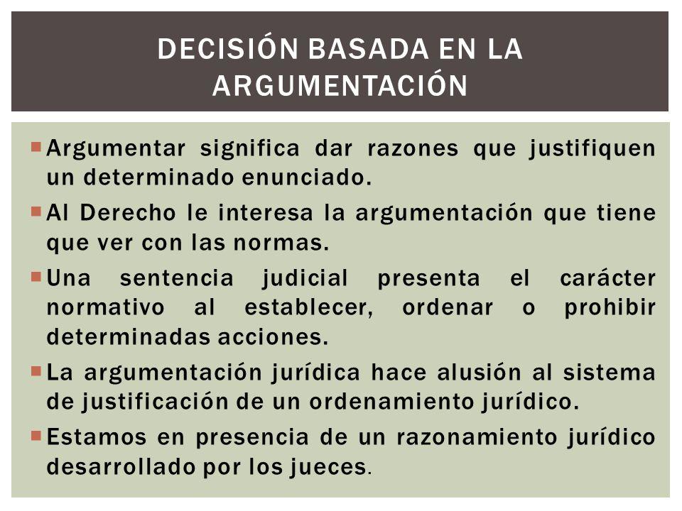 Decisión basada en la argumentación