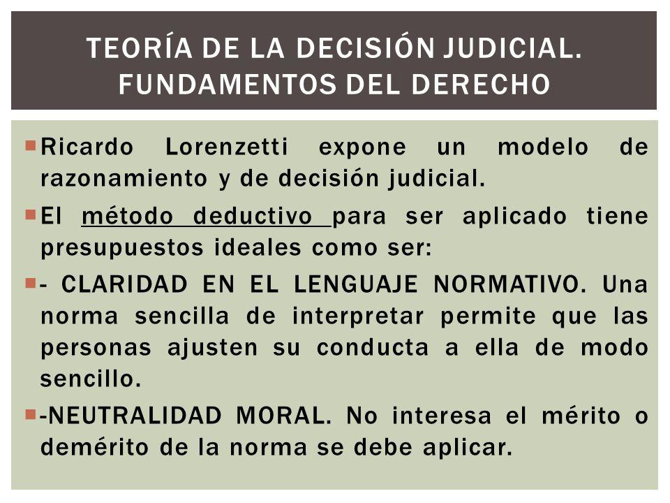Teoría de la Decisión Judicial. Fundamentos del Derecho