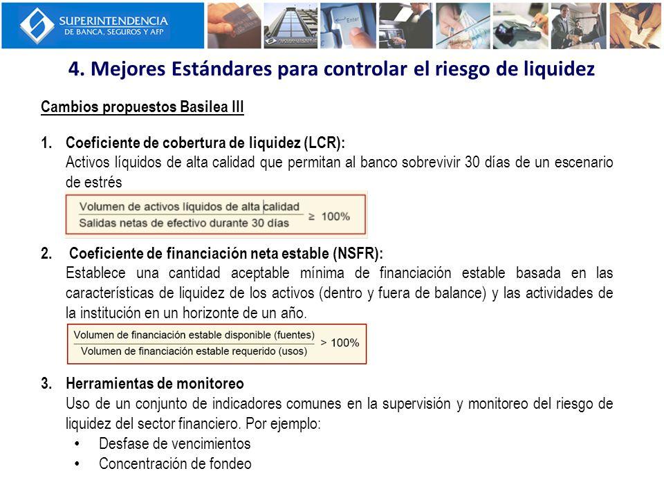 4. Mejores Estándares para controlar el riesgo de liquidez