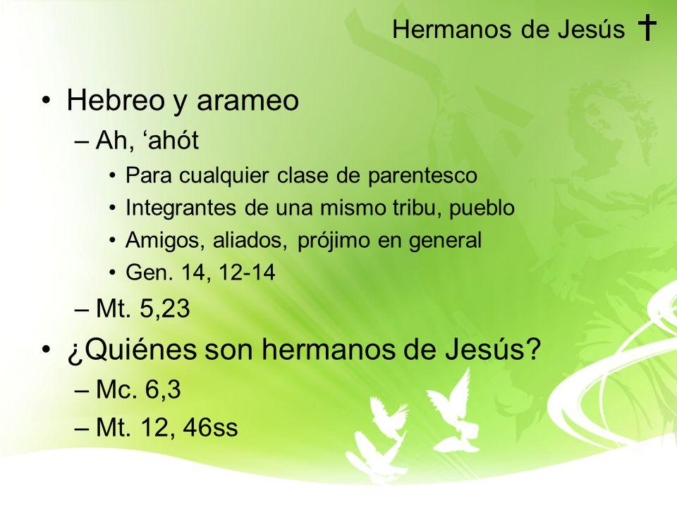 ¿Quiénes son hermanos de Jesús