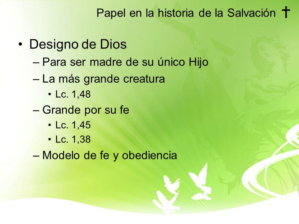 Papel en la historia de la Salvación