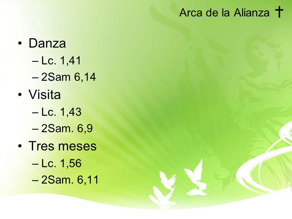 Danza Visita Tres meses Arca de la Alianza Lc. 1,41 2Sam 6,14 Lc. 1,43