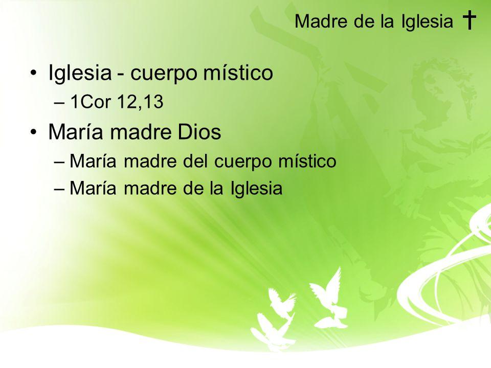 Iglesia - cuerpo místico María madre Dios