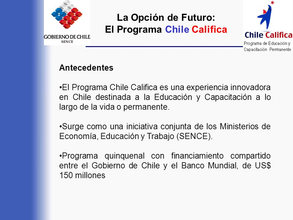 El Programa Chile Califica