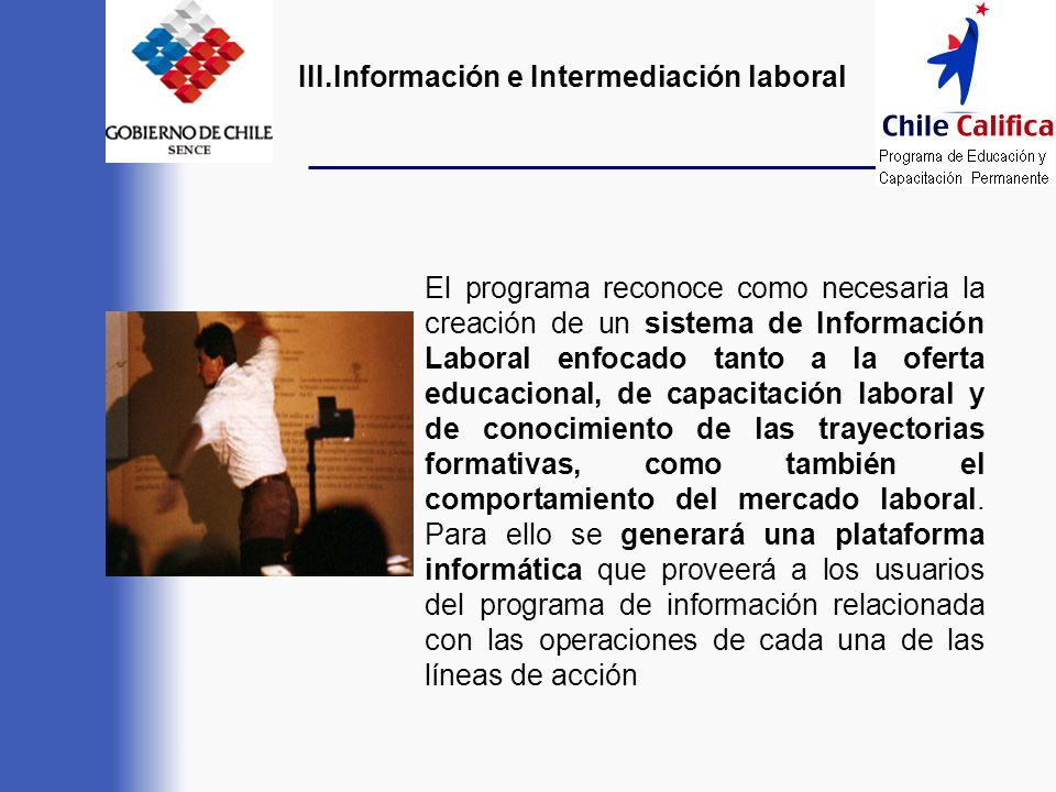 III.Información e Intermediación laboral