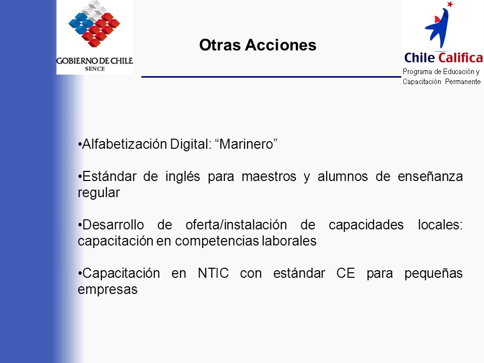 Otras Acciones Alfabetización Digital: Marinero