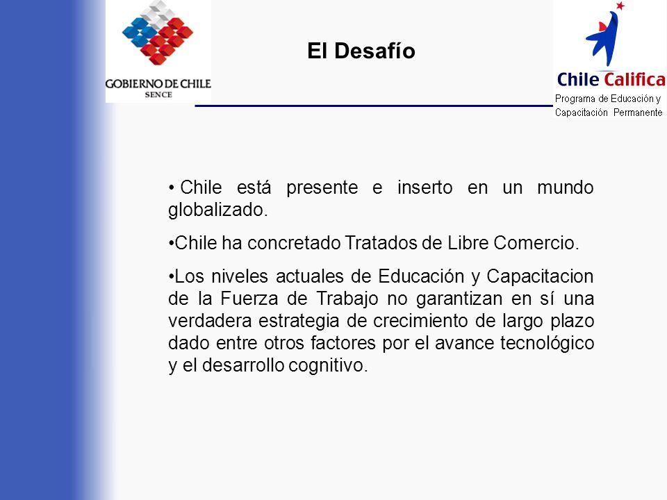 El Desafío Chile está presente e inserto en un mundo globalizado.