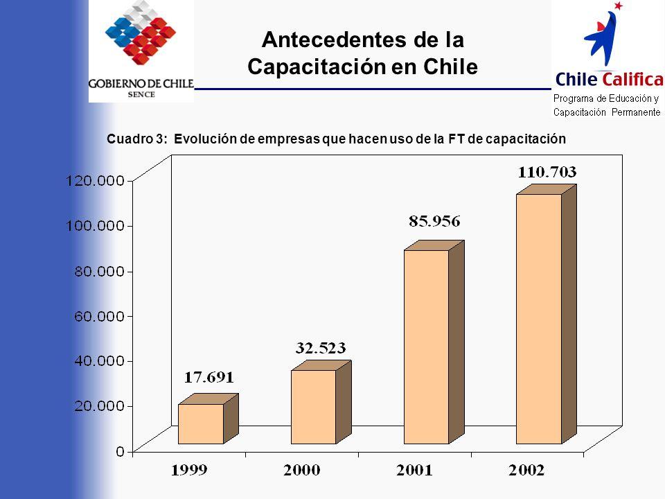 Antecedentes de la Capacitación en Chile