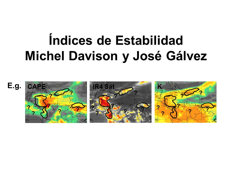 Índices de Estabilidad Michel Davison y José Gálvez