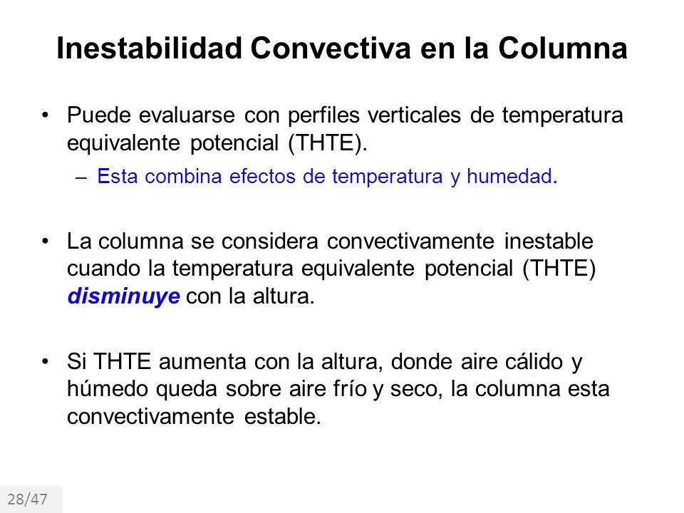Inestabilidad Convectiva en la Columna