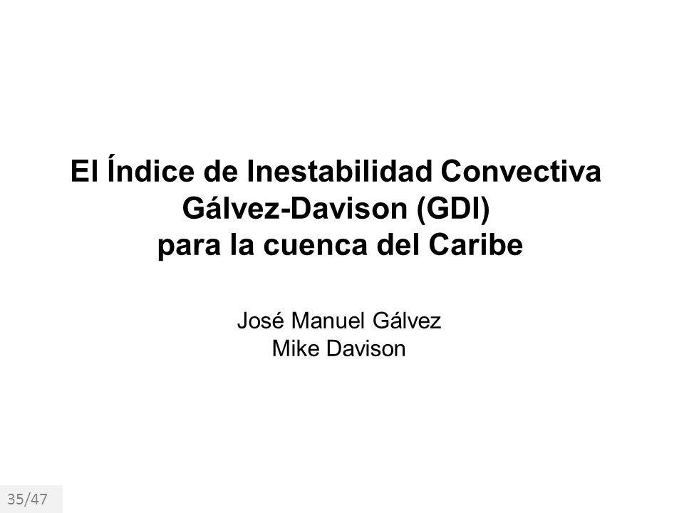 El Índice de Inestabilidad Convectiva para la cuenca del Caribe